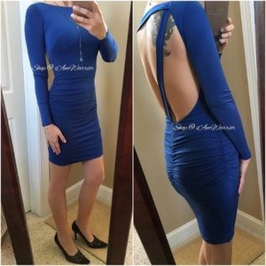 Maria Bianca Nero NWT Cobalt ruched bodycon dress